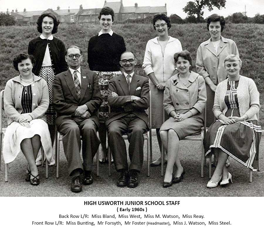 High Usworth Staff- early 1960s