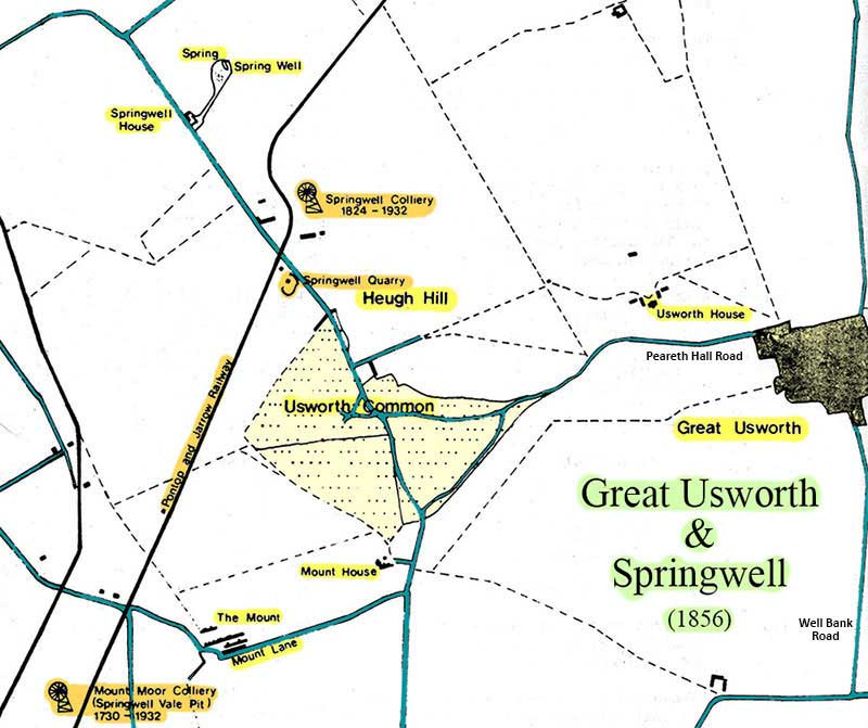Map of Usworth Common (1856)